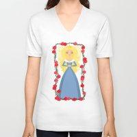 sleeping beauty V-neck T-shirts featuring Sleeping Beauty by Sara Showalter