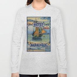 Antique travel fishing boat Heist Duinbergen Long Sleeve T-shirt