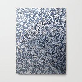 Organic Mandala Metal Print