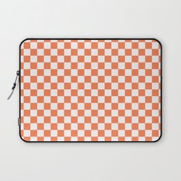 Living Coral Color Checkerboard Laptop Sleeve