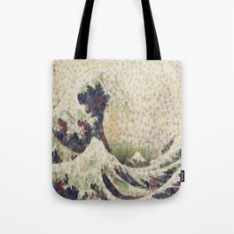The Great Wave Of Honeydew Melon After Hokusai Tote Bag