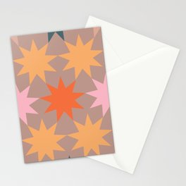 big stars big dreams pattern 3.1 Stationery Cards