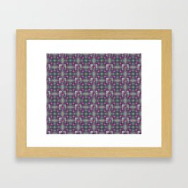 dragon lily pattern Framed Art Print