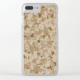 Desert Digital Camouflage Pattern Clear iPhone Case