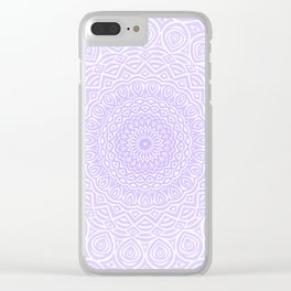 Purple Violet Mandala Design Extra Detailed Geometric Ethnic Tribal Pattern Clear iPhone Case
