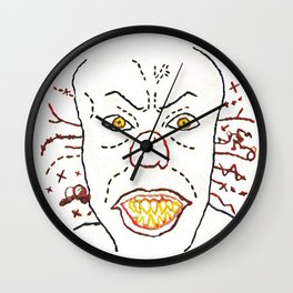 Pennywise The Dancing Clown - Digitally Rendered Hand Embroidery Wall Clock