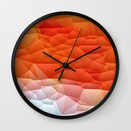 Quilted Pattern Orange Texture Abstract Wall Clock