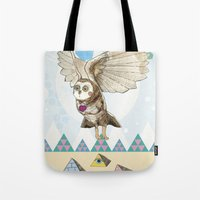 journey Tote Bags featuring Journey by Jo Cheung Illustration
