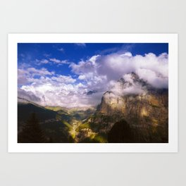 Good Evening in the Alps Art Print
