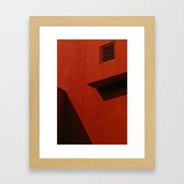 minimal red Framed Art Print