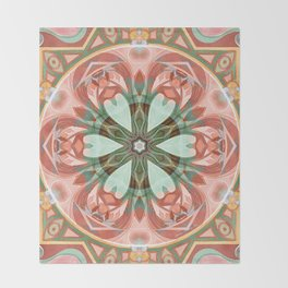 Mandalas of Forgiveness & Release 7 Throw Blanket