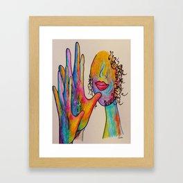 American Sign Language Grandmother Framed Art Print