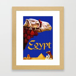Vintage Egypt Camel Travel Framed Art Print