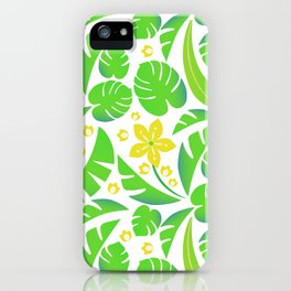 PERROQUET FLOWERS iPhone Case