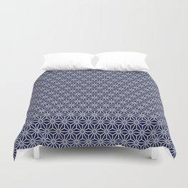 Japanese Yukata Jinbei Asanoha Navy blue Duvet Cover
