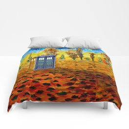 Tardis at Fall Grass field Art painting iPhone 4 4s 5 5c 6, pillow case, mugs and tshirt Comforters