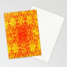 Fiery Halftone Flowers Stationery Cards