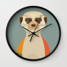 Meerkats Wall Clock