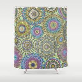 Kaleidoscopic-Jardin colorway Shower Curtain