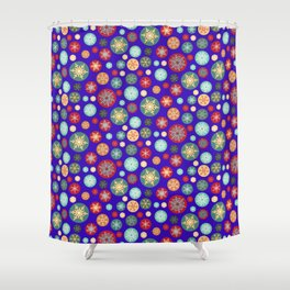 Magical Snowflakes Christmas Shower Curtain