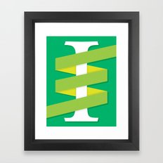 One (I) Framed Art Print