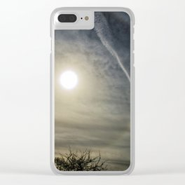 Eye in the sky halo Clear iPhone Case