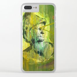 Roman Bust and Mountain (Old Wise Eyes) Clear iPhone Case