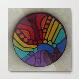 Rainbow Disc 4 Metal Print