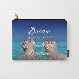 Dream Your Most Wonderful Dreams - Ocean Beach Swim - Boho Style - Corbin Henry Carry-All Pouch