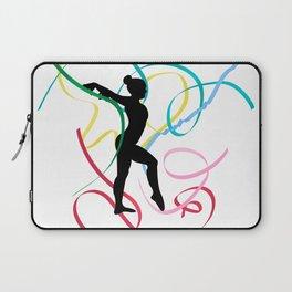 Ribbon dancer on white Laptop Sleeve