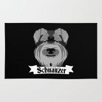 schnauzer Area & Throw Rugs featuring Schnauzer by mailboxdisco