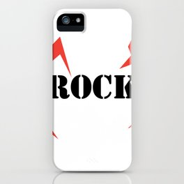 I Love rock Music iPhone Case