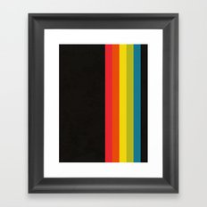 Retro Camera Color Palette Framed Art Print
