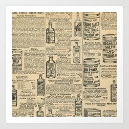 Vintage Catalogue Art Print