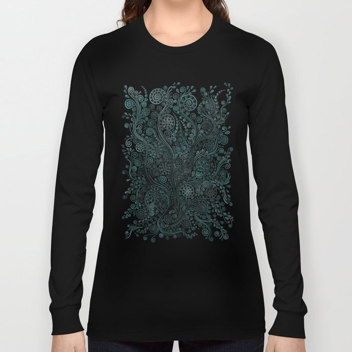 Teal ornaments Long Sleeve T-shirt