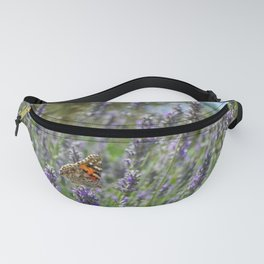 Lavender and Orange Butterfly Fanny Pack
