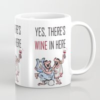 wine Mugs featuring Wine by Artysmedia