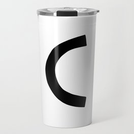 C Monogram (Hand 2) Travel Mug
