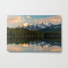 Herbert Lake reflections, Alberta, Canada Metal Print