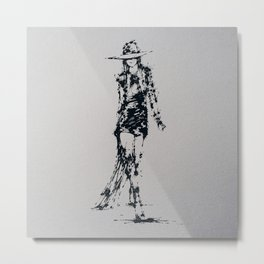Splaaash Series - Fashion Walk Ink Metal Print
