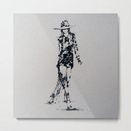 Splaaash Series - Fashion Walk Ink Metal Print