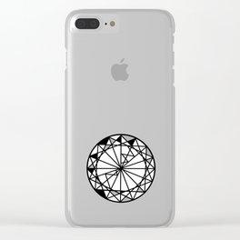 Diamond - round cut geometric design Clear iPhone Case