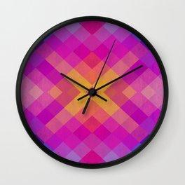 Colorful and geometric bands II Wall Clock