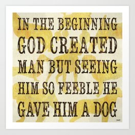 Dog Inspirational 1 Art Print