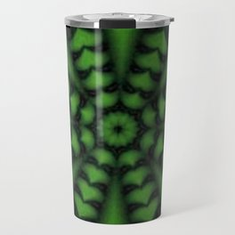 green hearted arrow Travel Mug