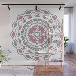 Heart Mandala – Pink Wall Mural
