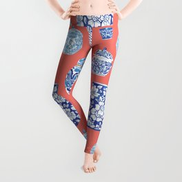 Chinoiserie Ginger Jar Collection No.4 Leggings