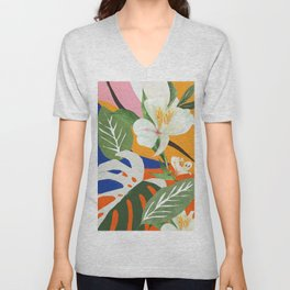 Garden - Abstract Art Unisex V-Neck