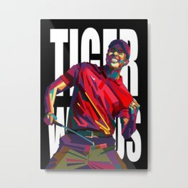 Tiger Woods design Metal Print