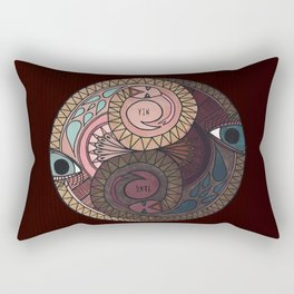 YIN YANG SNAKES Rectangular Pillow